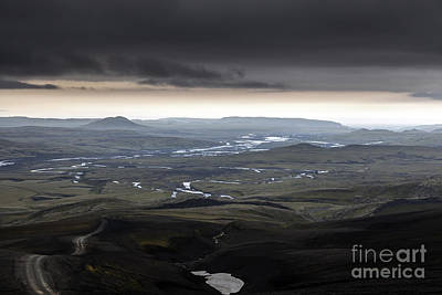 Landscapes Photograph - Iceland Road In The Mountain by Gunnar Orn Arnason
