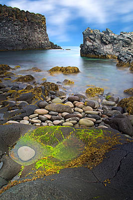 Iceland Rocky Coast Landscape Art Print by Dirk Ercken