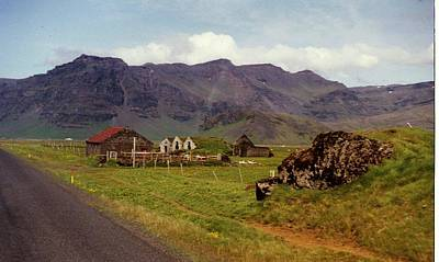 Art Print featuring the photograph Icelandic  Cottage by Debra Kaye McKrill