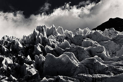 Photograph - Icelandic Glacier - Black And White by Anthony Doudt