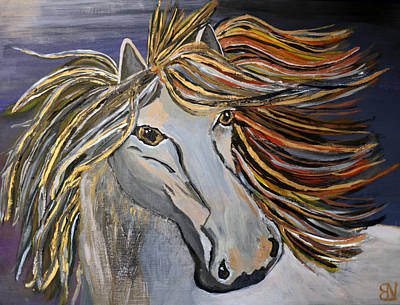 Forelock Painting - Icelandic Horse by Becki Nation