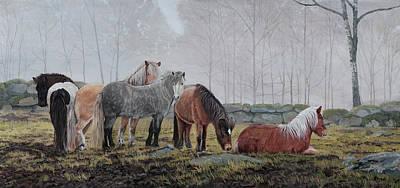 Icelandic Horse Painting - Icelandic Horses by Troels Kirk