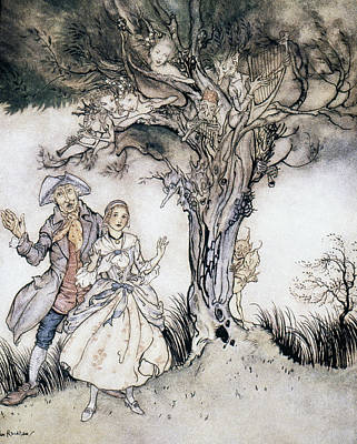 Ichabod Crane And Katrina Art Print by Granger