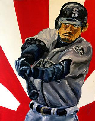 Ichiro Painting - Ichiro by Adam Barone