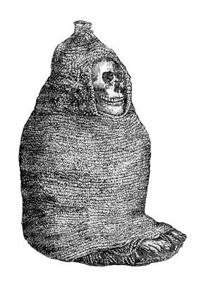Ichma Sitting Mummy, Pre-incan Art Print by British Library