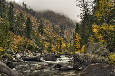 Icicle Creek Hues Art Print by Mark Kiver