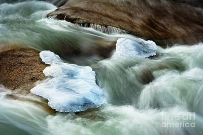 Thawing Photograph - Icicle Creek by Inge Johnsson