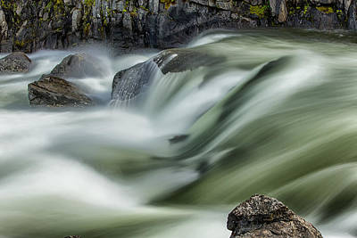 Photograph - Icicle River by Mary Jo Allen