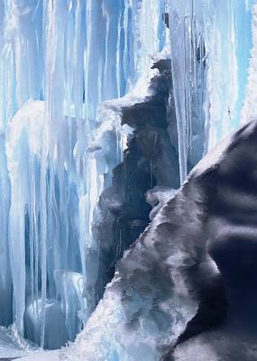 Photograph - Icicles And Snow by Nina Donner