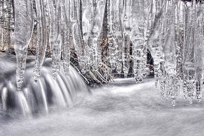 Photograph - Icicles by Dawn J Benko