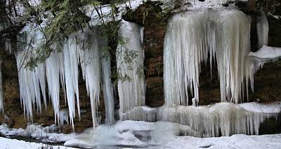 Photograph - Icicles In Hocking Hills Ohio by Dan Sproul