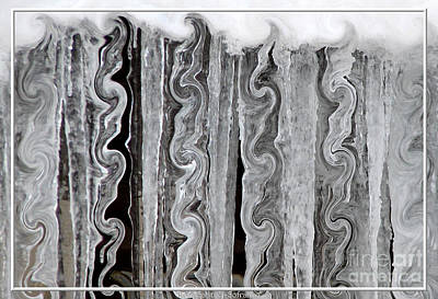 Photograph - Icicles With Curlicue Special Effect by Rose Santuci-Sofranko