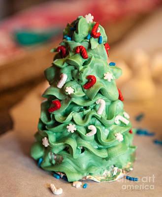 Icing Christmas Tree Art Print by Iris Richardson