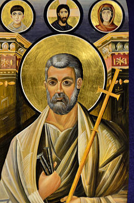 Icon Of Holy Apostle Peter Art Print