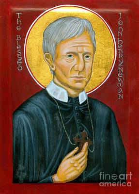 Icon Of The Blessed John Henry Newman Art Print by Juliet Venter