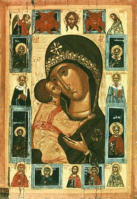Icon Of The Virgin Of The Tenderness Art Print by Everett