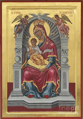 Icon Of Virgin Enthroned Lambovitissa With Child Original