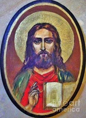 14k Drawing - Icon Savior by Armen Abel Babayan