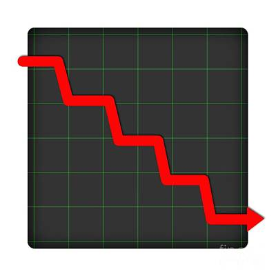 Earnings Digital Art - Icon Statistic Down by Henrik Lehnerer