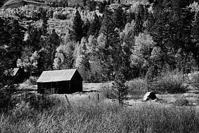 Photograph - Iconic Cabin  Black And White by Michael Courtney