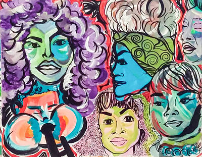 Etta James Painting - Iconic by CaSondra Burger