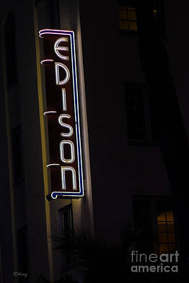 Photograph - Iconic Edison Hotel South Beach by Rene Triay Photography