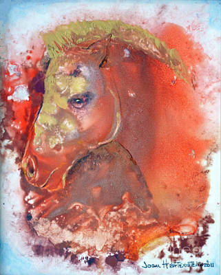 Art Print featuring the painting Iconic Horse Head by Joan Hartenstein
