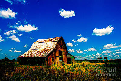 Usa Photograph - Iconic Kansas Red Barn by JC Kirk