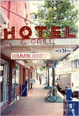 Iconic Landmark Humming Bird Hotel And Grill In New Orelans Louisiana Art Print