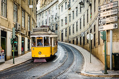 Travel Photograph - Iconic Lisbon Streetcar No. 28 IIi by Marco Oliveira