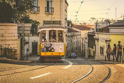 Photograph - Iconic Lisbon Streetcar No. 28 Iv by Marco Oliveira
