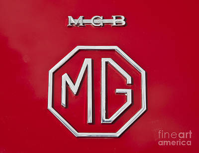 Photograph - Iconic Mgb Badge by Anthony Morgan