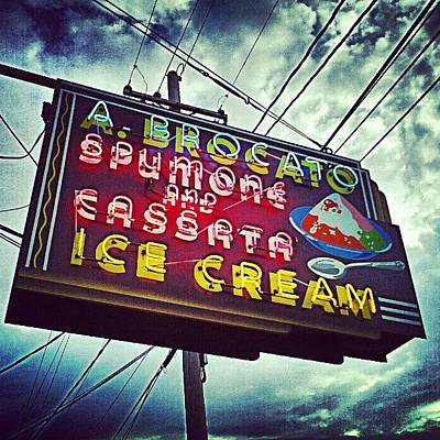 New Orleans Photograph - Iconic New Orleans Ice Cream by Glen Abbott
