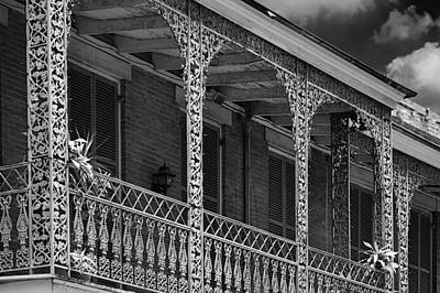 Old House Photograph - Iconic New Orleans Wrought Iron Balcony by Christine Till