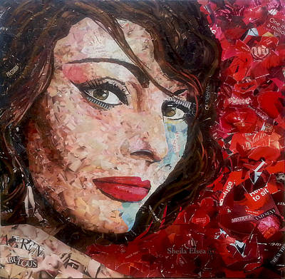 Custom Framed Art Mixed Media - Iconic People by Sheila Elsea
