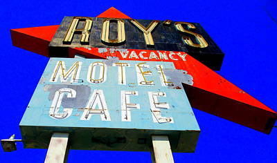 Roy Painting - Iconic Roys On Route 66 by Randall Weidner