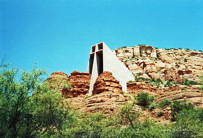 Photograph - Iconic Sedona Chapel Of The Holy Cross by Connie Fox