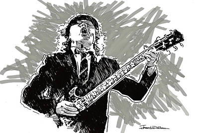 Angus Young Painting - Icons - Angus Young by Jerrett Dornbusch