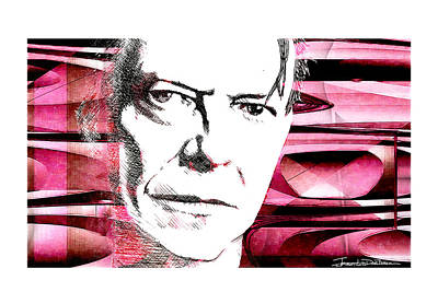 Ziggy Stardust Drawing - Icons - David Bowie by Jerrett Dornbusch