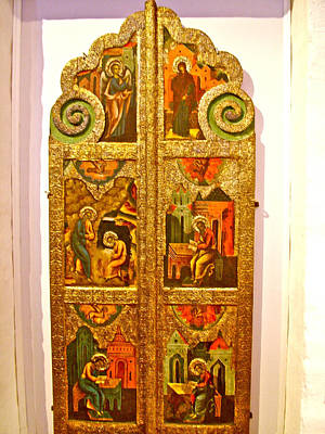 Russian Icon Digital Art - Icons In Museum In Kirillo-belozersk Monastery In Goritsy-russi by Ruth Hager