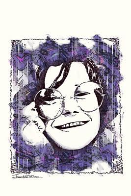 Joplin Drawing - Icons - Janis Joplin by Jerrett Dornbusch