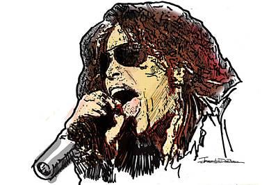 Aerosmith Drawing - Icons - Steven Tyler by Jerrett Dornbusch