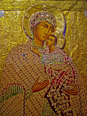 Russian Icon Digital Art - Icons4 In Museum In Kirillo-belozersk Monastery In Goritsy-russia by Ruth Hager