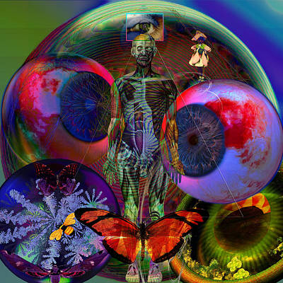 Butterfly Digital Art - i.C.U.Solar Earth Intensive Care Unit  by Joseph Mosley