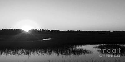 Photograph - Icw Sunset In Black And White by Shelia Kempf