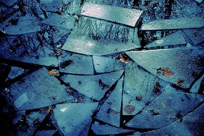 Photograph - Icy Abstract In Blue 2013 by Beth Akerman