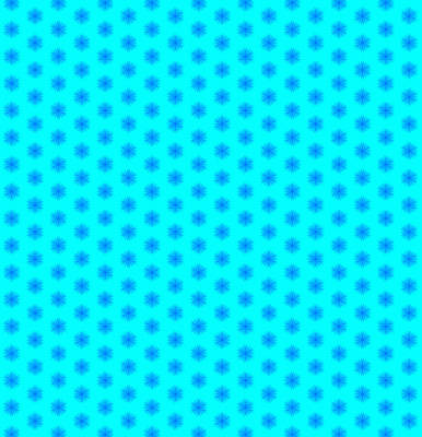Icy Aqua And Blue Snowflake Pattern Art Print by Shelley Neff