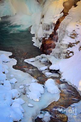 Icy Christine Falls  Art Print by Inge Johnsson