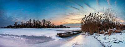 Photograph - Icy Dawn Panorama by Davorin Mance