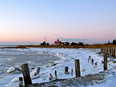 Photograph - Icy Day At East Point Lighthouse by Nancy Patterson
